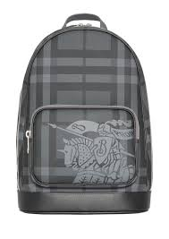 burberry men s rocco logo print faux leather backpack