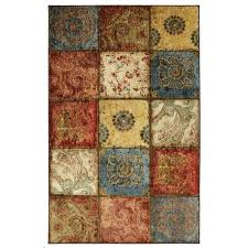 mohawk home artifact panel multicolor rectangular 8 ft x 10 ft rug