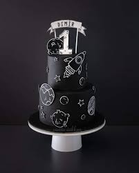Space Birthday Cake Designs Pin By Hieppp On Black White Party Zwart Wit Feestje