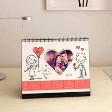 love you personalized desk calendar