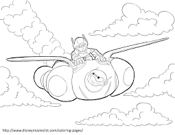 Hiro And Baymax In Flight Big Hero 6 Coloring Pages Disney