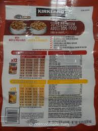 Nature S Domain Puppy Food Feeding Chart Kirkland Signature Cuts And Gravy Dog Food