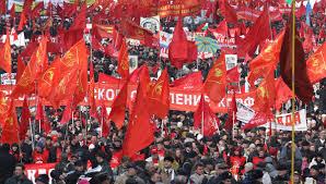 ноября День Октябрьской революции года история праздника   Шествие в честь годовщины Октябрьской революции в Москве