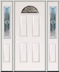 star fan lite fiberglass prehung door unit with sidelites 35 sc 1 st door clearance center