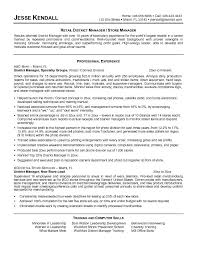 District Manager Resume 19 Retail
