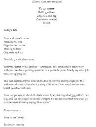 Generic Cover Letter For Resume Awesome Cover Letter Examples For