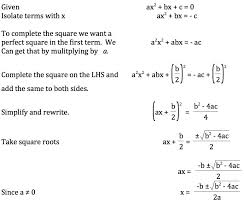 the challenge so if the derivation of the quadratic formula
