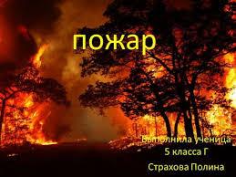Презентация на тему Пожары в жилых и общественных зданиях их  презентация по обж ПОЖАР