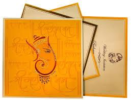 Sadi Card Design Ganesha Themed Wedding Cards With Hindu Shlokas Wedding