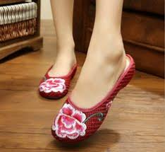 Click to Buy << <b>Pointed Old Beijing Flower</b> Embroidered Women ...