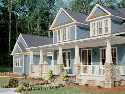 Image Siding Blue Craftsmanstyle Home With White Trim Hgtvcom Curb Appeal Tips For Craftsmanstyle Homes Hgtv