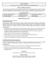 Financial Analyst Resume Objective Resumes For 100 Hospital Financial Analyst Resumes Business 12