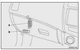 fuses maintenance mitsubishi asx owner s manual mitsubishi a main fuse block