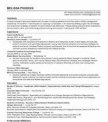 Resume Nursing Home Health Nurse Resume Sample Nursing Resumes Livecareer