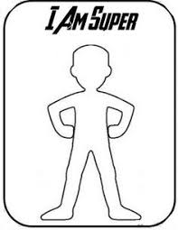 Create Your Own Superhero Template Sketch Coloring Page Superhero