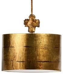 fragment drum pendant light gold