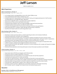 8 Restaurant Manager Resume Buisness Letter Forms