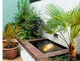 Small Picture PLAN EDEN Small shady courtyard garden design with water feature