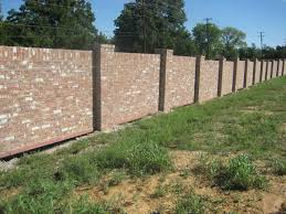 Small Picture Brick Wall Fence Designs Elegant Fences Design Ideas Spaced