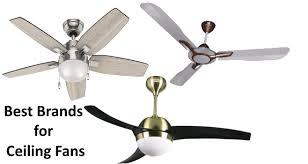 brands for ceiling fans in india