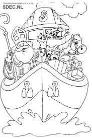 Sinterklaas Knutselen Sinterklaas Kleurplaten Stoomboot Sinterklaas