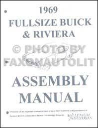 1969 buick repair shop manual original gs skylark riviera lesabre 1969 buick assembly manual reprint riviera lesabre electra wildcat