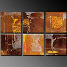 abstract signal on multi panel canvas wall art set with 6 piece canvas art multi panel wall art