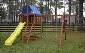 apollo do it yourself swing set with blue top three swing positions and