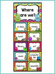 Monster Theme Where Are We Chart Classroom Job Chart Job
