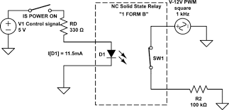 transistors using a normally closed pcb mounted solid state schematic