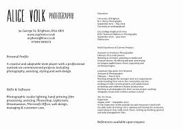Photographer Resume Sample Breathtakingher Resume Format Curriculum Vitae Download Sample 8