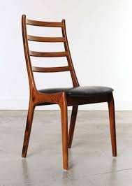 set of 8 rosewood leather dining chairs kai kristiansen denmark from