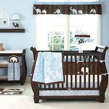 elephant crib set boy blue and brown elephant baby boy nursery collection crib bedding set elephant crib set