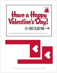 28 Images of Valentines Mailbox Printable Template kpoppedcom