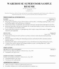 Warehouse Supervisor Resume Adorable Warehouse Supervisor Resume Sample Prime Warehouse Lead Resume