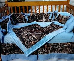 camo baby bedding sets real tree max 4 uflage crib bedding set w baby blue dot