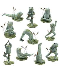 pose military garden statues meditating frog statue yoga figurines by groove garden statues