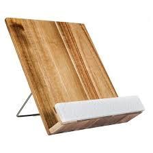 threshold acacia wood cookbook holder