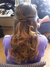 Hairstyles Homecoming Hairstyles For Medium Length Half Up Curls