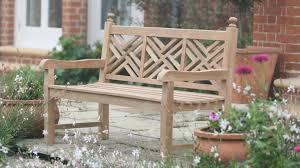 emily gray teak garden bench