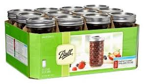 ball canning jars. set of 12 quilted crystal jelly jars ball canning e