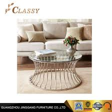 modern home furniture round glass coffee table
