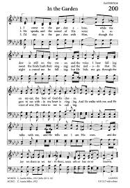 in the garden sheet music. Fine Music Celebrating Grace Hymnal Page 191 Intended In The Garden Sheet Music N