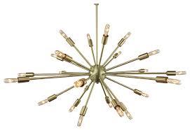 sputnik chandelier brushed brass