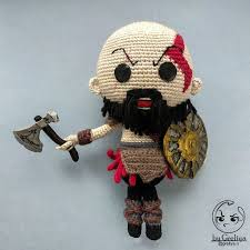 Cute man Kratos character God of War game Croched <b>toy</b> | Etsy ...
