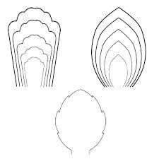 Paper Flower Petal Template Printable Flower Petal Template Pattern Discover Thousands Of About