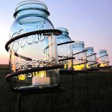 6 garden stake mason jar outdoor candle