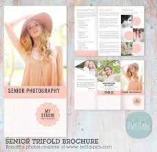 Trifold Brochure Size Senior Photography Guide Trifold Flyer Dl Size Sell Sheet Etsy