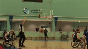 university peion in wheelchair basketball