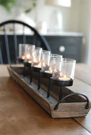 Kitchen Table Centerpiece Rustic Wood Centerpiece Votive Holder Kitchen Table Or Coffee